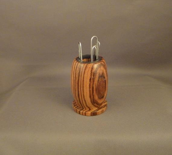 Magnetic Paper Clip Holder Luxury Paper Clip Holder Magnetic Zebrawood by Dananddeedesigns On Etsy