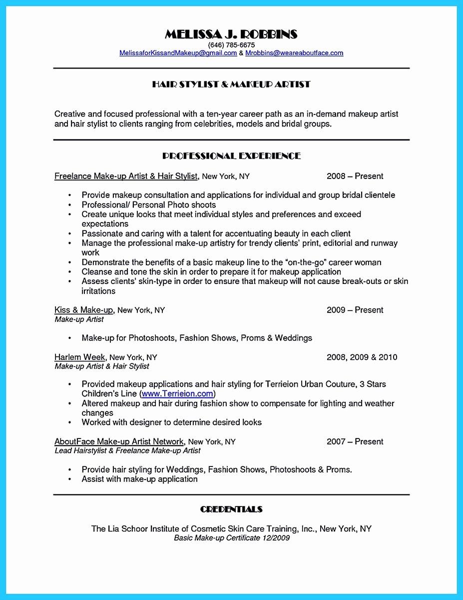 Make Up Artist Resume Elegant Artist Resume Template that Look Professional