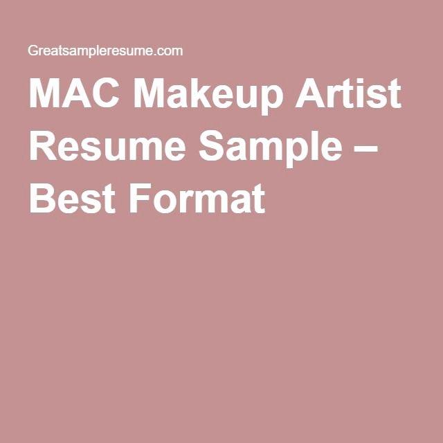 Make Up Artist Resume Unique Mac Makeup Artist Resume Sample – Best format