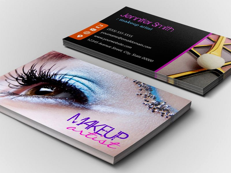 Makeup Artist Business Card Awesome Stylish Eye Shadow Makeup Artist Business Card