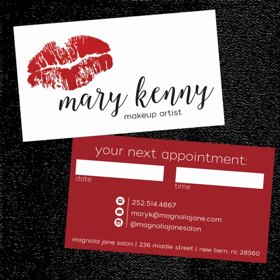 Makeup Artist Business Card Awesome top 25 Professional Makeup Artist Business Card Ideas