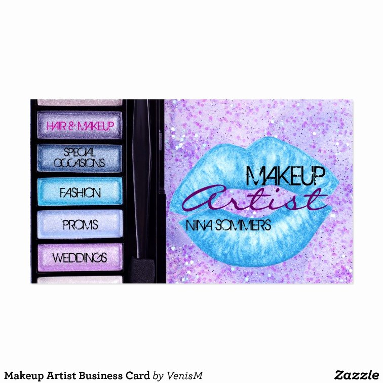 Makeup Artist Business Card Fresh Makeup Artist Business Card