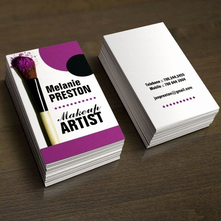 Makeup Artist Business Card Inspirational 1000 Images About Makeup Artist Business Cards On Pinterest