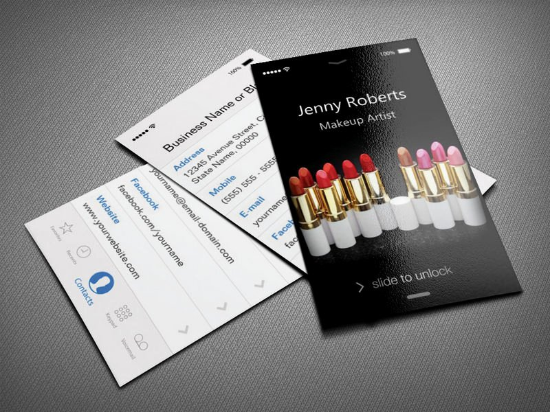 Makeup Artist Business Card Lovely Make Your Own Business Card From 20 000 Designs