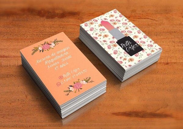 Makeup Artist Business Card Luxury 22 Floral Business Cards