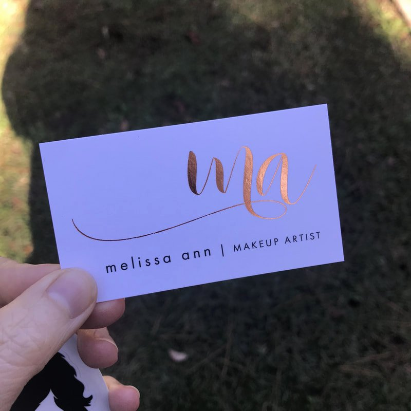 Makeup Artist Business Cards Awesome Makeup Artist Business Cards Fancy Gold Foil Business Cards