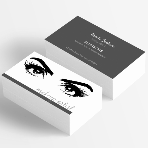 makeup artist business card eyes eyelashes