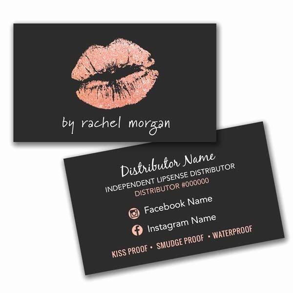 Makeup Artist Business Cards Elegant Lipsense Makeup Artist Business Card • Itw Visions