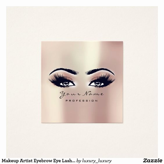 Makeup Artist Business Cards Fresh top 25 Professional Makeup Artist Business Card Ideas