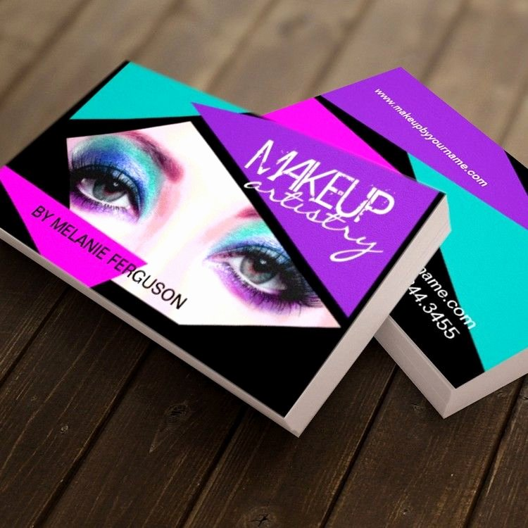 Makeup Artist Business Cards Ideas Awesome Bold Makeup Artist Business Card