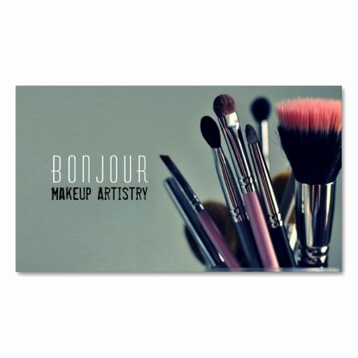 Makeup Artist Business Cards Ideas Fresh Makeup Artist Salon Beauty Cosmetologist Business Card