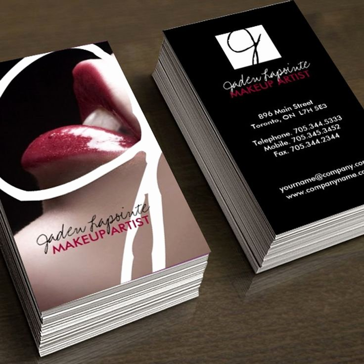 Makeup Artist Business Cards Ideas New 92 Best Images About Makeup Artist Business Cards On Pinterest