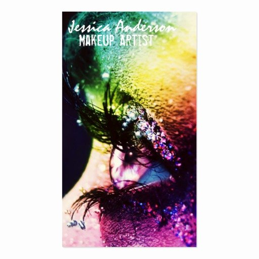 Makeup Artist Business Cards Ideas Unique Rainbow Eyes Makeup Artist Double Sided Standard Business Cards Pack 100