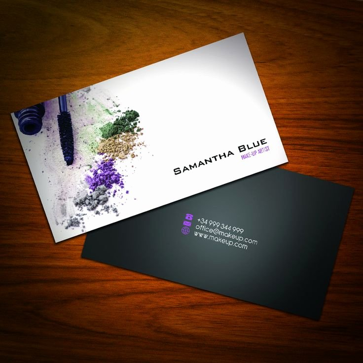 Makeup Artist Business Cards Inspirational Business Card Design for Freelance Makeup Artist Business Cards Pinterest
