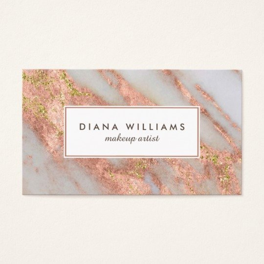 Makeup Artist Business Cards Lovely Sparkling Pink Marble Abstract Makeup Artist Business Card