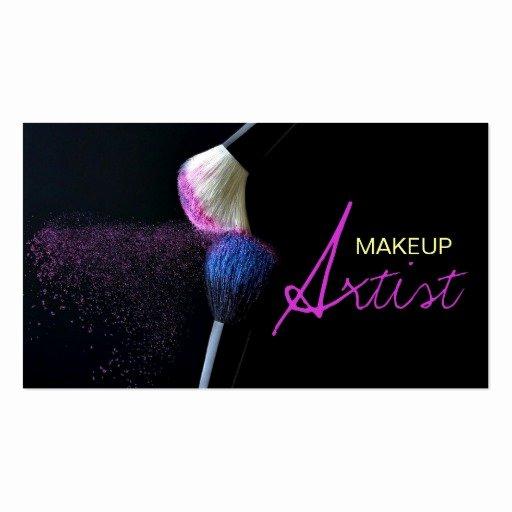 Makeup Artist Business Cards New Makeup Artist Cosmetology Salon Business Card