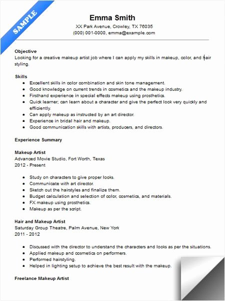 Makeup Artist Contract Template Best Of Makeup Artist Resume Sample Resume Examples Pinterest