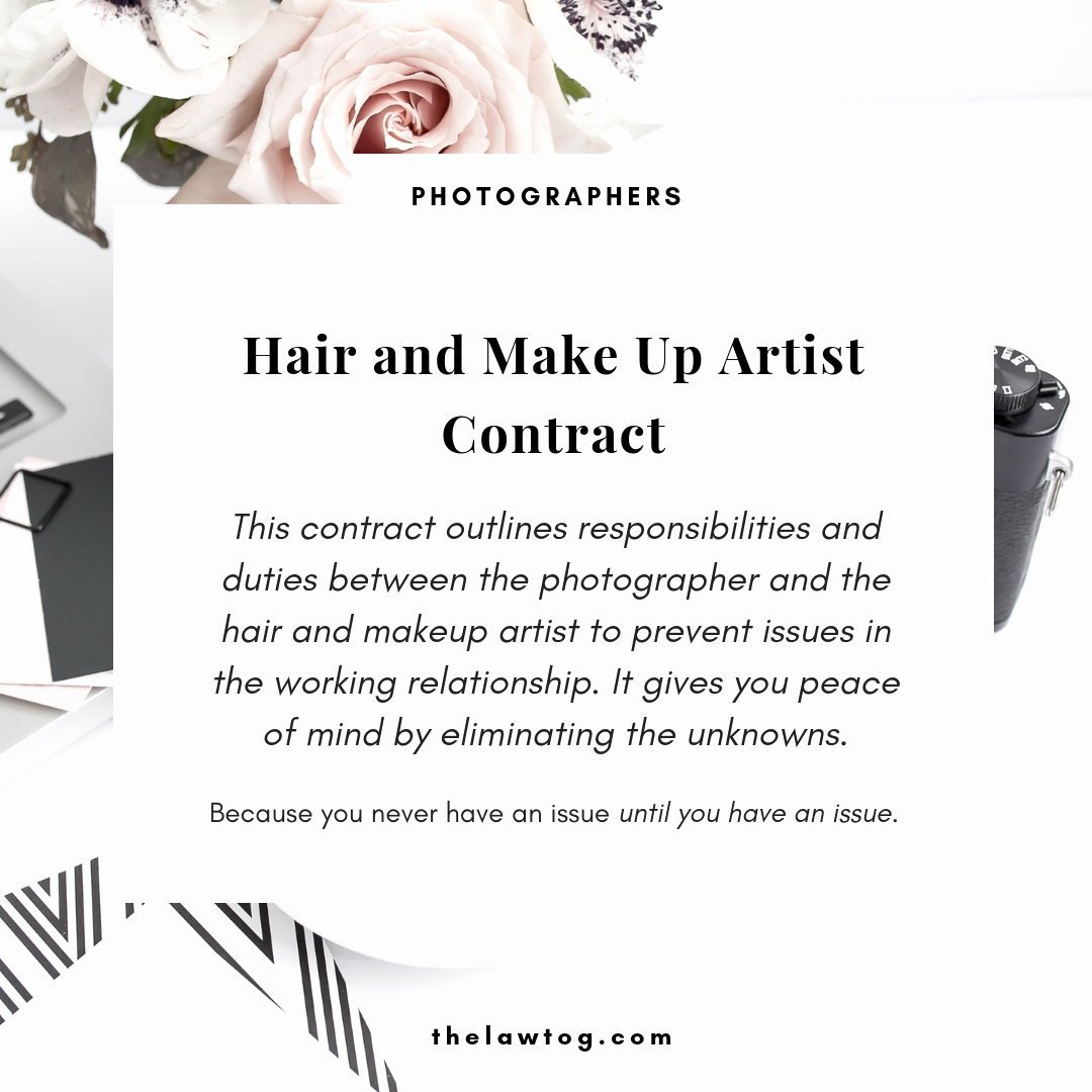 Makeup Artist Contract Template Free Lovely Glamour Graphy Essentials thelawtog