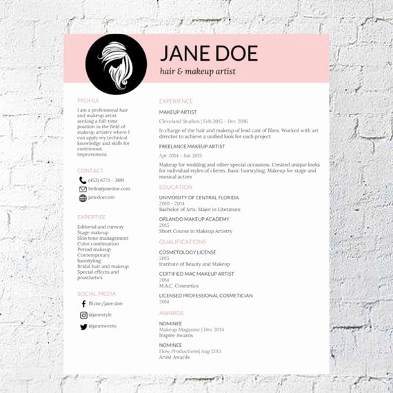 Makeup Artist Resume Sample Awesome Hair Stylist Makeup Artist Resume Template Google Document