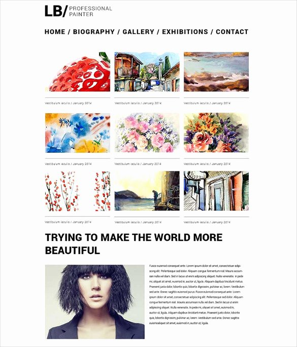 Makeup Artist Website Templates Awesome 29 Artists Website themes & Templates