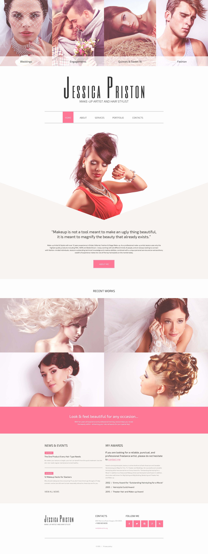 Makeup Artist Website Templates Awesome Hair Stylist Website Template