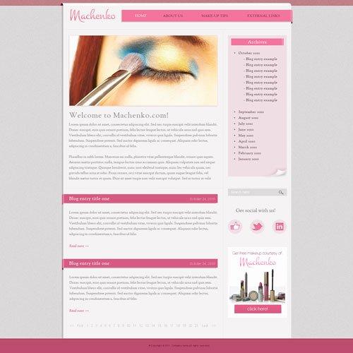 Makeup Artist Website Templates Inspirational Makeup Website Template