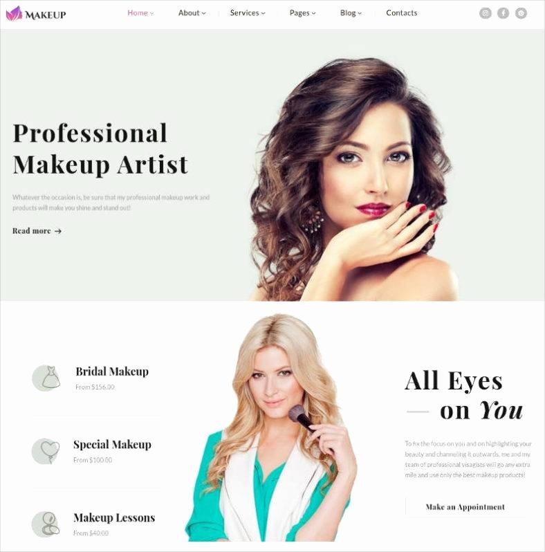 Makeup Artist Website Templates Lovely 10 Best Makeup Artists Website Templates Free & Premium themes