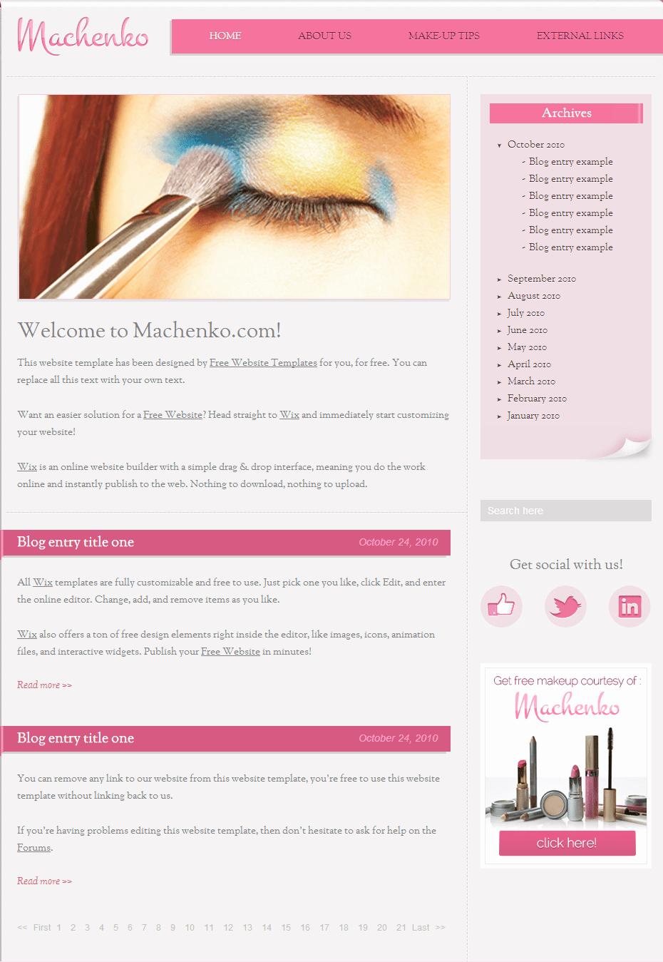 Makeup Artist Website Templates Luxury Beauty & Fashion