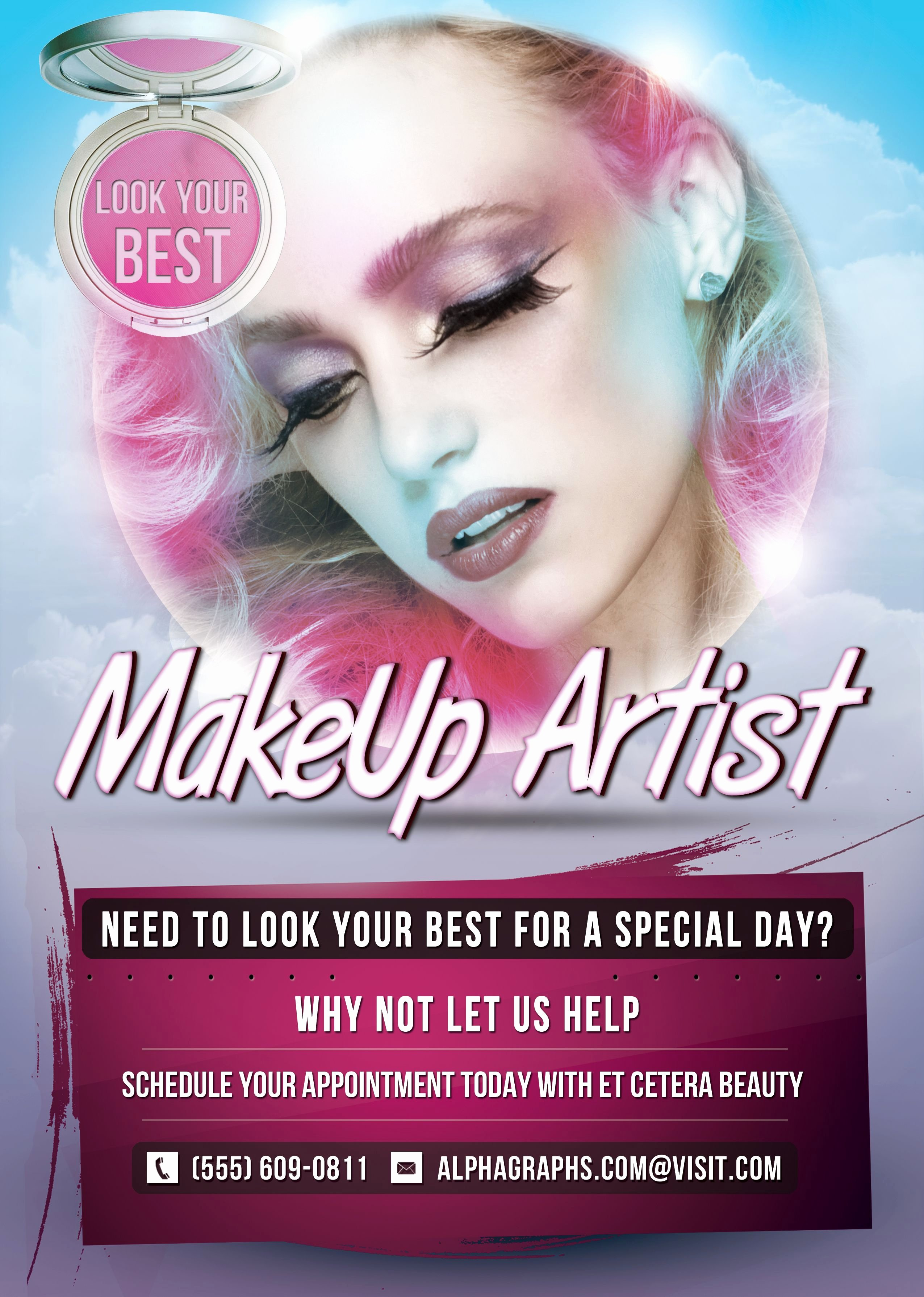 Makeup Artist Website Templates Luxury Pin by Alpha Graphs On Flyers