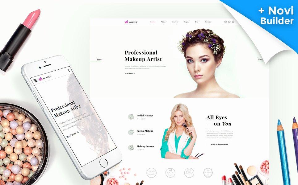 Makeup Artist Website Templates New Makeup Artist & Cosmetics Responsive Website Template