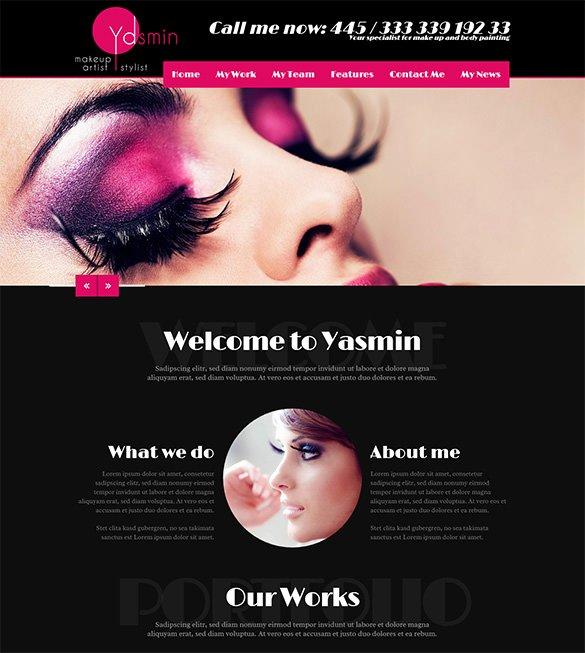 Makeup Artist Website Templates New Makeup Artist Flyer Templates Free