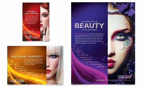 Makeup Artist Website Templates New Makeup Artist Flyer Word Template & Publisher Template Inspiration Design