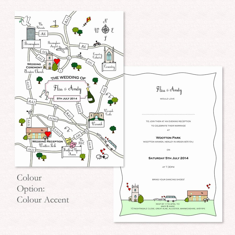 Maps for Wedding Invitations Templates Awesome Wedding or Party Illustrated Map Invitation by Cute Maps