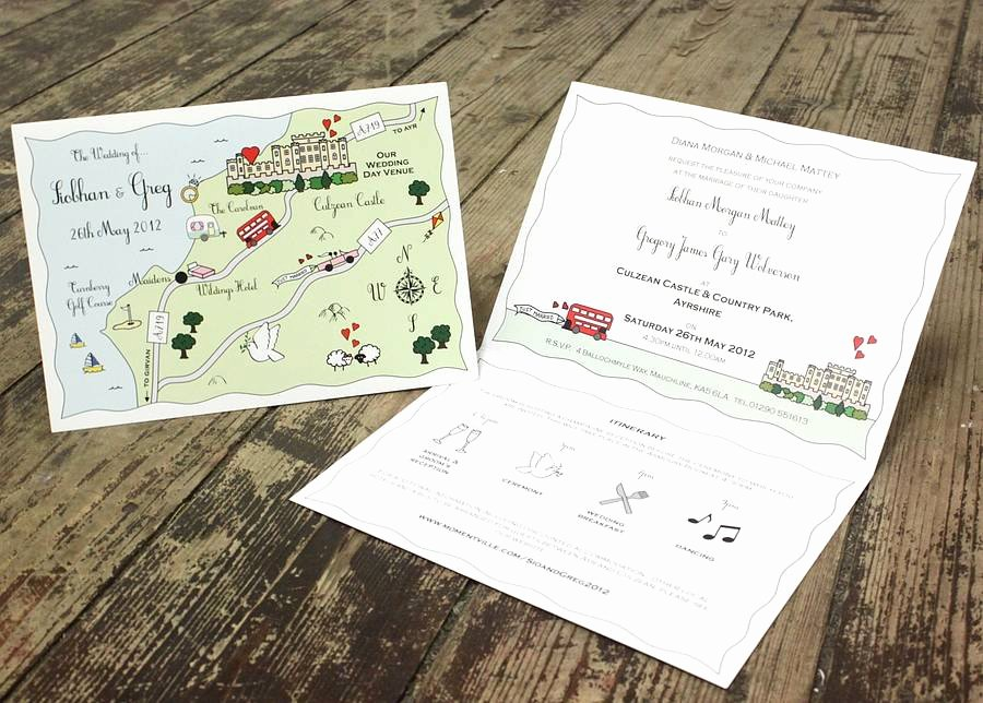 Maps for Wedding Invitations Templates Beautiful Illustrated Map Wedding or Party Invitation by Cute Maps