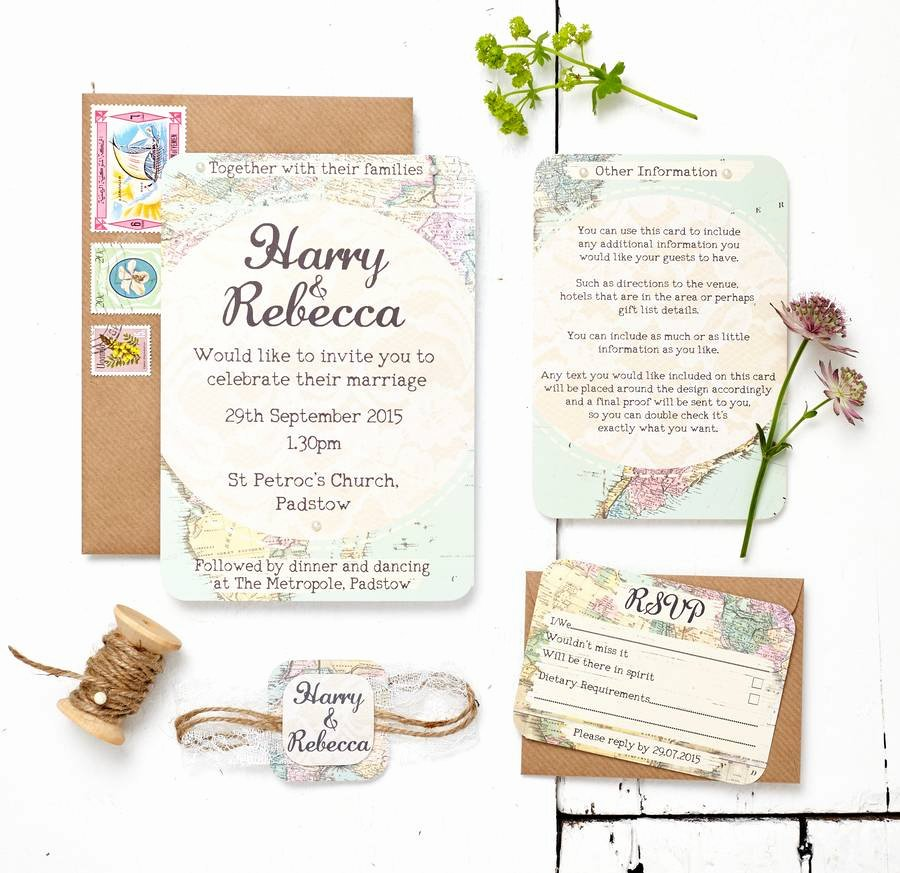 Maps for Wedding Invitations Templates Best Of Travel Inspired Map Wedding Invitation Set by Peardrop Avenue