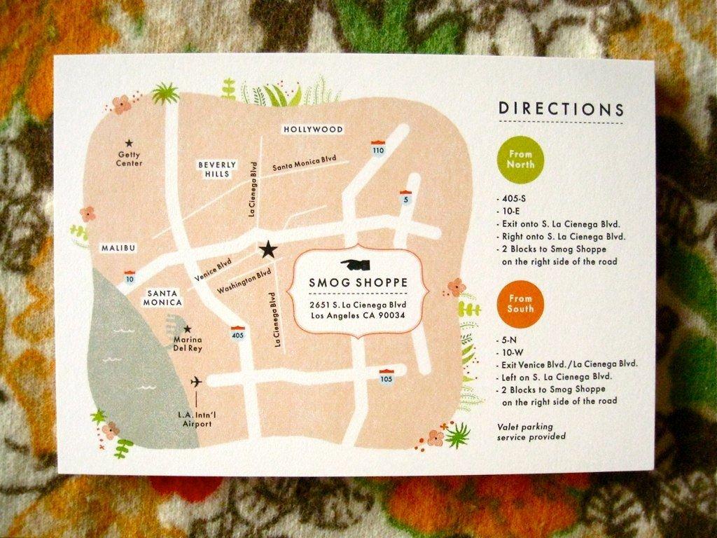 Maps for Wedding Invitations Templates Elegant Custom Map for Wedding Invite Stationary and Invitations