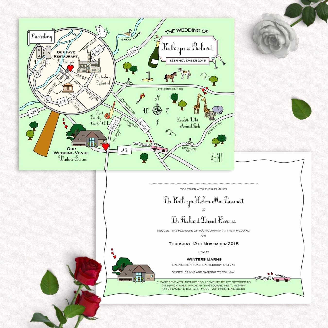 Maps for Wedding Invitations Templates Elegant Cute Maps Wedding Stationery In Buckinghamshire