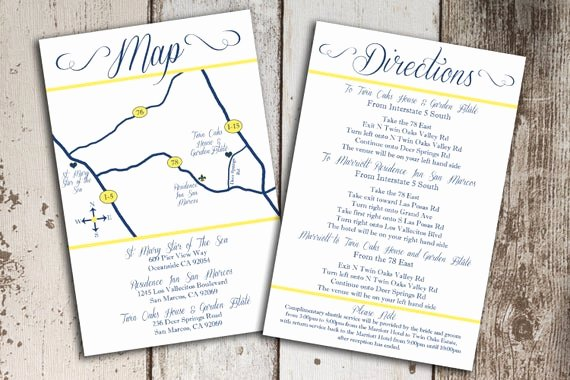 Maps for Wedding Invitations Templates Inspirational Items Similar to Custom Wedding Map and Direction Invitation Insert Printable File On Etsy