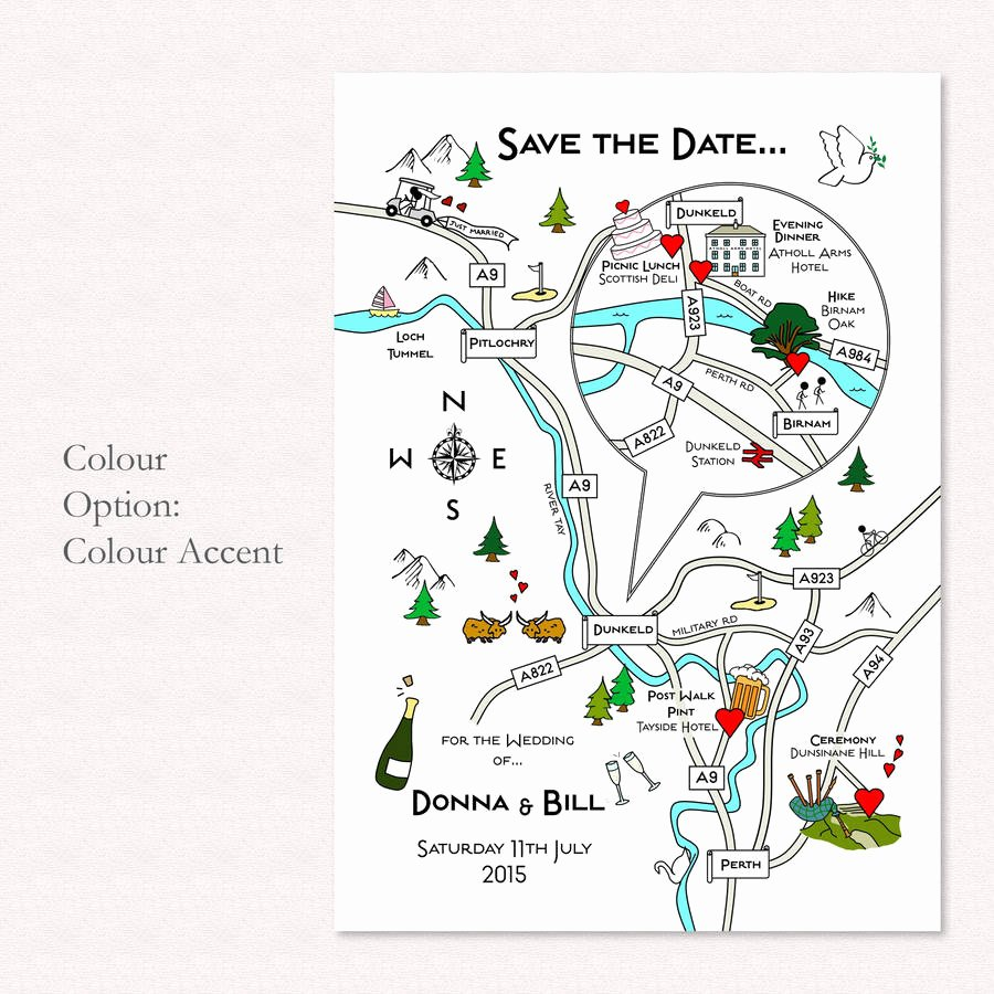 Maps for Wedding Invitations Templates Luxury Print Your Own Colour Wedding or Party Illustrated Map by Cute Maps