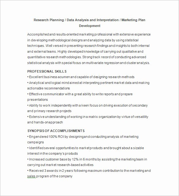 Market Research Analyst Resume Elegant Marketing Analyst Resume Template – 16 Free Samples Examples format Download