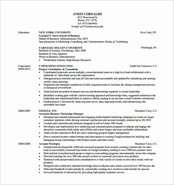 Market Research Analyst Resume Inspirational Marketing Analyst Resume Sample