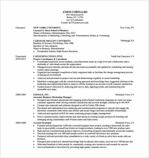 Market Research Analyst Resume Luxury 13 Marketing Analyst Resume Templates Doc Excel Pdf