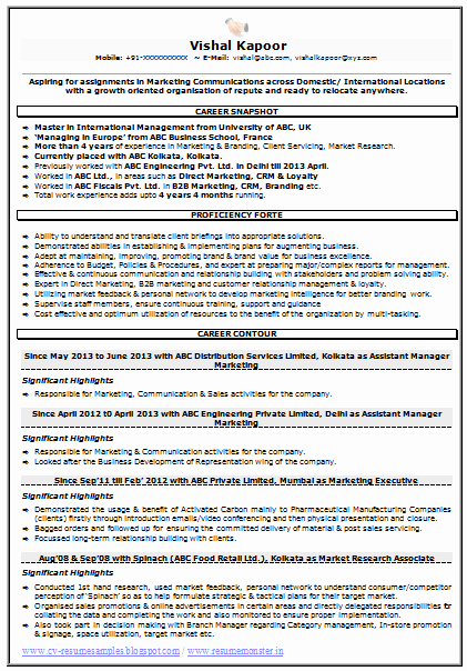 Market Research Analyst Resume New Resume Sample for Marketing & Market Research 1 Career