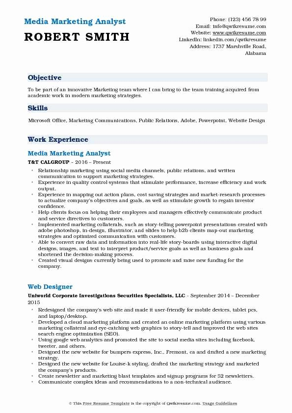 Market Research Analyst Resume Unique Marketing Analyst Resume Samples