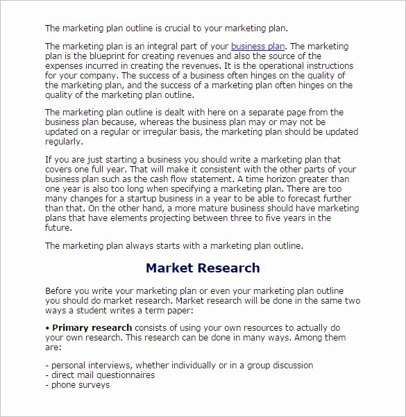 Market Research Report Template Awesome 8 Research Paper Outline Templates Doc Excel Pdf
