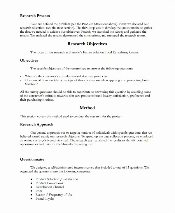 Market Research Report Template Fresh 12 Research Report Templates Free Sample Example format