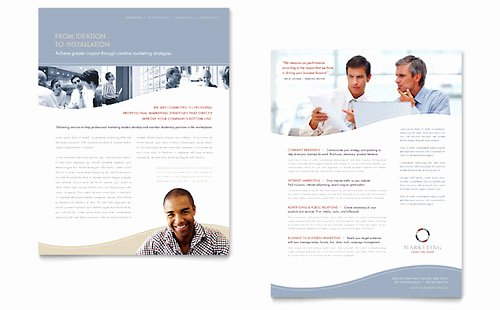 Marketing One Sheet Template Elegant Free Sales Sheet Template