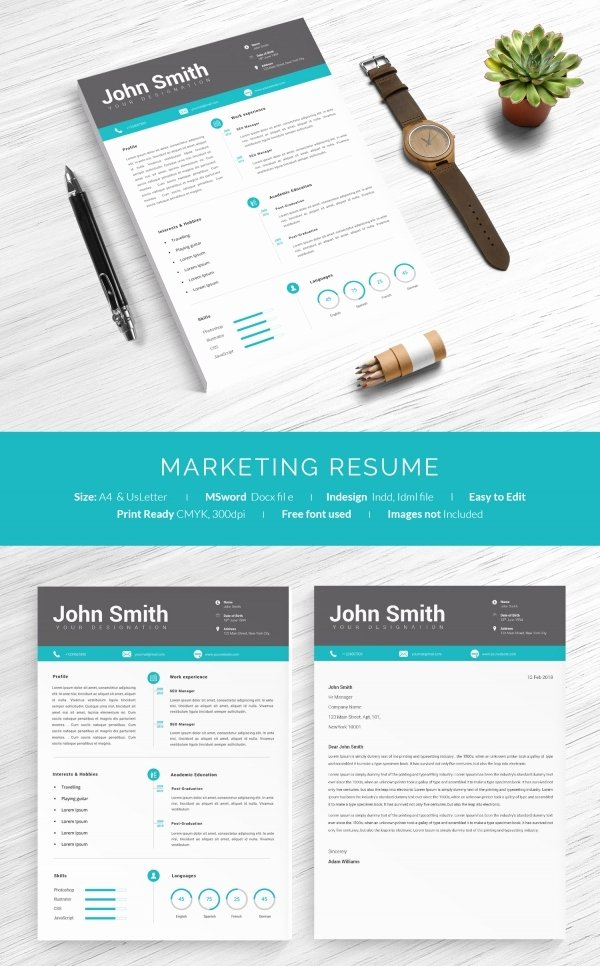 Marketing One Sheet Template Fresh 41 E Page Resume Templates Free Samples Examples & formats Download