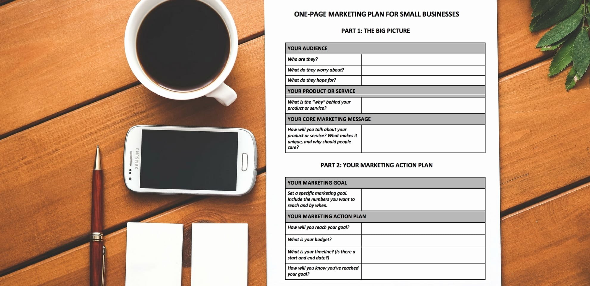 Marketing One Sheet Template New [free Download] A E Page Marketing Plan Template You Ll Actually Use