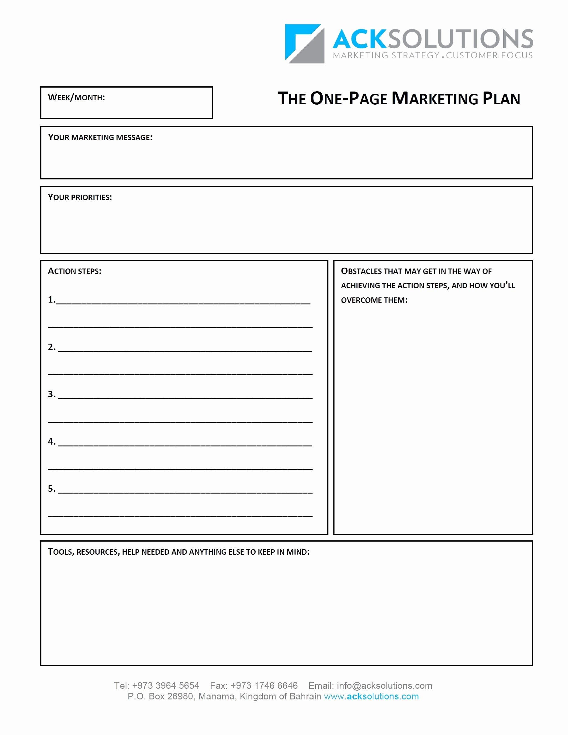 Marketing One Sheet Template Unique 10 E Merce Marketing Plan Examples Pdf Word Docs
